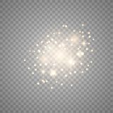 Gwiazdowego py?u iskry royalty ilustracja