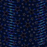 Gwiazdowego skutka bezszwowy wzór Zdjęcia Stock