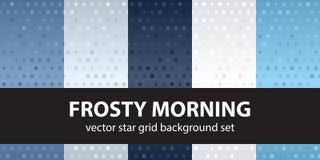 Gwiazdowego wzoru ustalony Mroźny ranek bezszwowy tło wektor ilustracji