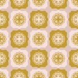 Gwiazdowej Kołdrowej Ludowej sztuki tekstury wektoru Bezszwowy wzór Ręka Rysujący kwadrat royalty ilustracja
