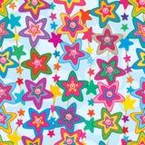 Gwiazdowej kwiat ślicznej twarzy pionowo bezszwowy wzór royalty ilustracja