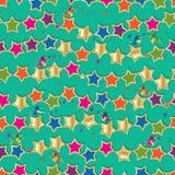 Gwiazdowej ptasiej kolorowej sztuki bezszwowy wzór ilustracja wektor