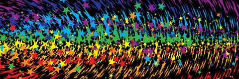 Gwiazdowej tęczy agresywny sztandar Obraz Royalty Free