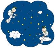 Gwiazdowi aniołowie royalty ilustracja