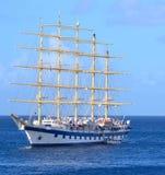 Gwiazdowi 5 cążki masztowy statek wycieczkowy Obraz Royalty Free