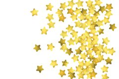 Gwiazdowi confetti Złocisty przypadkowy confetti tło royalty ilustracja