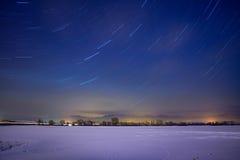 Gwiazdowi koła i mgła Fotografia Stock