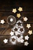 Gwiazdowi kształtów ciastka Obrazy Royalty Free