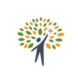 Gwiazdowi ludzie drzewo ikony zdjęcia royalty free