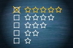 Gwiazdowi ratingowi czeków pudełka Zdjęcia Stock