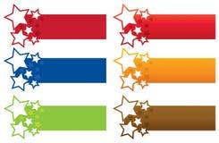Gwiazdowi sztandary Obrazy Royalty Free