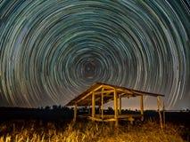 Gwiazdowy ślad przy polami obraz royalty free