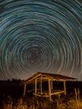 Gwiazdowy ślad przy polami obraz stock