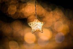 Gwiazdowy światło i Bokeh tło Obrazy Stock