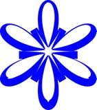 Gwiazdowy Abstrakcjonistyczny logo, błękitny koloru symbol, Wektorowy projekt obraz stock