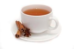 Gwiazdowy anyż i cynamonowa herbaciana filiżanka Obraz Stock