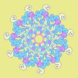Gwiazdowy błękita wzór na kolorze żółtym również zwrócić corel ilustracji wektora Zdjęcia Stock