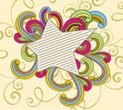 gwiazdowy doodle rocznik Zdjęcia Royalty Free