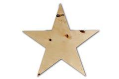 Gwiazdowy drewno Wystrój dla domu robić drewno Na biały tle Zdjęcie Royalty Free