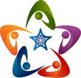 Gwiazdowy drużynowy logo ilustracja wektor