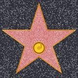 Gwiazdowy fonografu rejestr (Hollywood sława spacer) ilustracja wektor