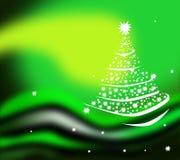 gwiazdowy futerka drzewo Fotografia Royalty Free