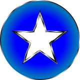 Gwiazdowy ikona symbol Obraz Royalty Free