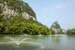 Gwiazdowy jezioro w Zhaoqing, Chiny Obraz Stock