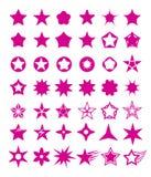 Gwiazdowy kształta set Obrazy Royalty Free