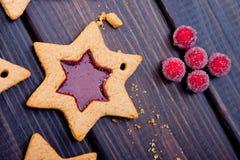 Gwiazdowy kształta ciastko Obrazy Stock