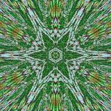 Gwiazdowy kwiat sztuki szkło w zielonym kolorze Fotografia Royalty Free