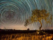 Gwiazdowy ślad przy polami obrazy royalty free