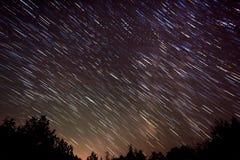 Gwiazdowy śladu nocne niebo Obraz Royalty Free