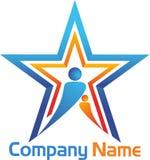 Gwiazdowy logo Zdjęcie Stock