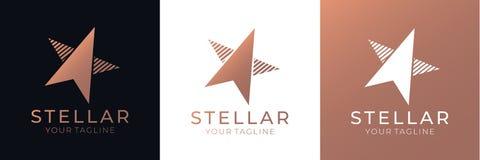 Gwiazdowy logo Ogólnoludzki abstrakcjonistyczny logo z gwiazdowym symbolem dla jakaś biznesu Gwiazdowy znak lider, sukces i władz ilustracja wektor