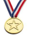 Gwiazdowy medal Fotografia Royalty Free