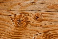 Gwiazdowy pęknięcie na drewnie Obrazy Stock