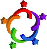 gwiazdowy para logo Zdjęcia Stock