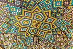 Gwiazdowy Podsufitowy mozaiki Golestan pałac zdjęcie stock
