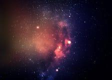 Gwiazdowy pole w głębokiej przestrzeni wiele lekcy rok dalecy Obraz Royalty Free