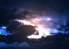Gwiazdowy pole w głębokiej przestrzeni wiele lekcy rok dalecy Zdjęcia Stock