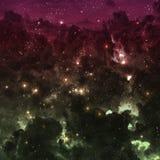 Gwiazdowy pole w głębokiej przestrzeni wiele lekcy rok daleko od royalty ilustracja
