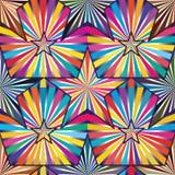Gwiazdowy promień wśrodku jaskrawy kolorowy bezszwowego Zdjęcia Stock