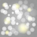 Gwiazdowy pył, tysiące genialni światła ilustracja wektor
