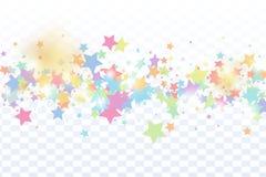 Gwiazdowy spada confetti tło ilustracji
