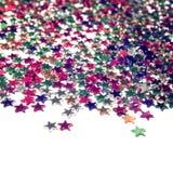 Gwiazdowy tło z kopii przestrzenią z bliska scatter zdjęcie stock