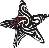 gwiazdowy tatuaż Obrazy Royalty Free