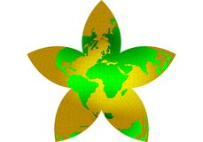 gwiazdowy świat, mapa, glob Obraz Royalty Free