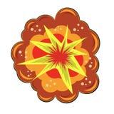 Gwiazdowy wybuch z cząsteczkami Obraz Royalty Free