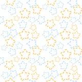 Gwiazdowy wzór w błękita i pomarańcze kolorach Ilustracja Wektor